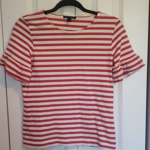 J. Crew belled short sleeved striped shirt